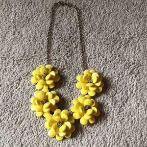 Jcrew yellow flower necklace